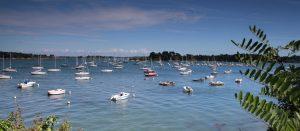 Photographie du Golfe du Morbihan : mer et bateaux