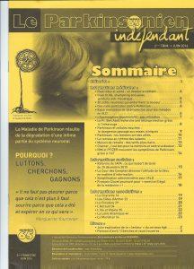 Image de couverture du magazine Parkinsonien indépendant